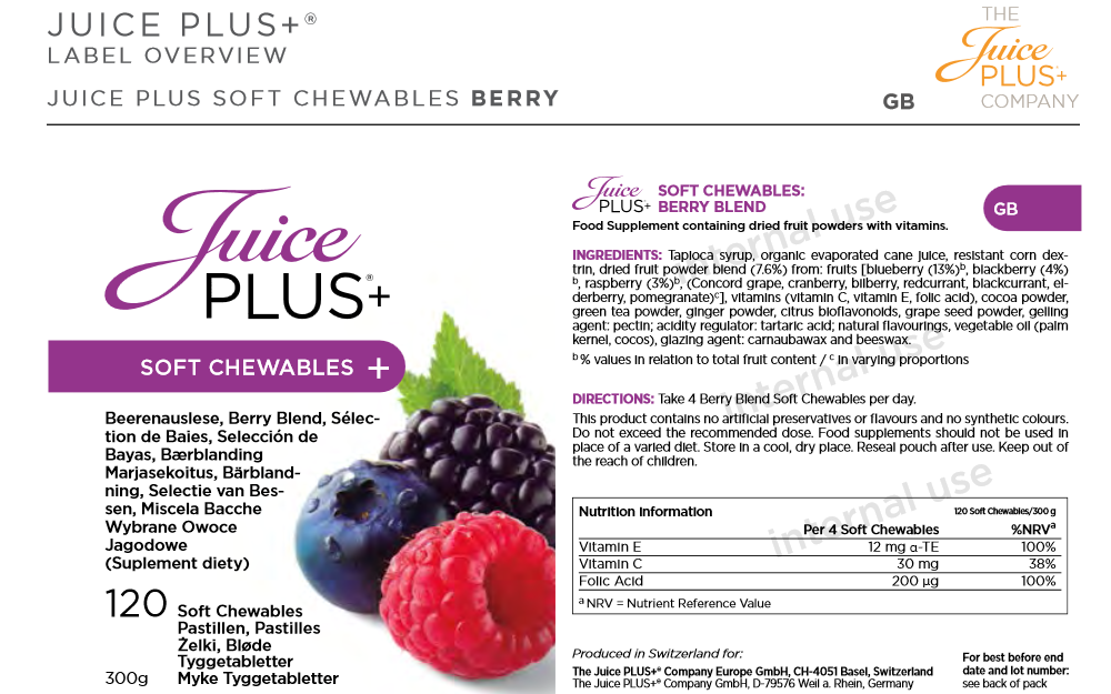 Juice Plus Soft Chewables Berry Blend