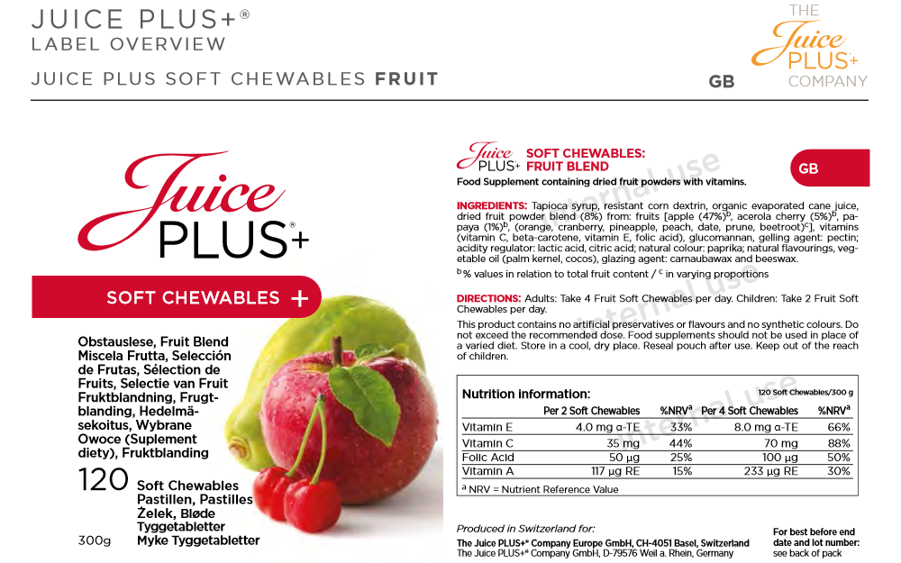 Juice Plus Soft Chewables Fruit Blend